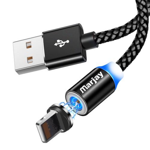 Магнитный кабель зарядки Marjay iPhone IOS Черный 1м