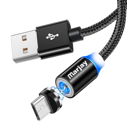Магнитный кабель зарядки Marjay micro Черный 1м
