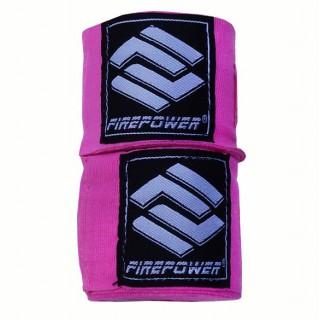 Бинты боксерские эластичные Firepower FPHW3 3м Рожеві