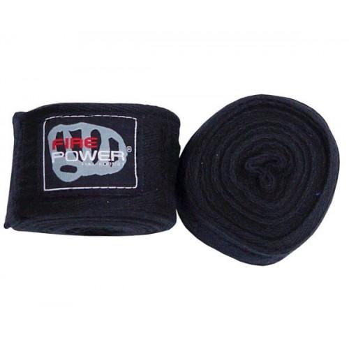 Бинты боксерские FirePower FPHW4 Cotton 4,5м Черные