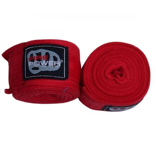 Бинты боксерские FirePower FPHW4 Cotton 4,5м Красные