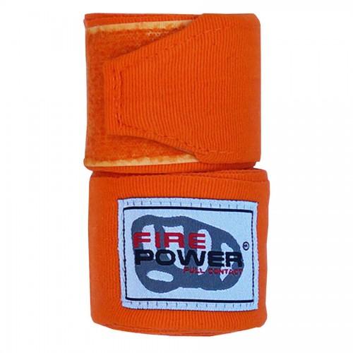 Бинты боксерские эластичные FirePower FPHW3 3м Оранжевые