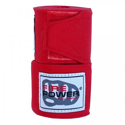 Бинты боксерские эластичные FirePower FPHW3 3м Красные