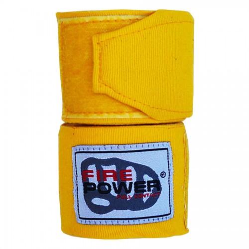 Бинты боксерские эластичные FirePower FPHW3 3м Желтые