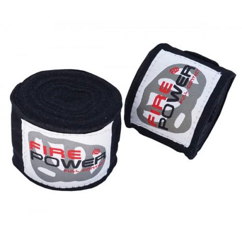 Бинты боксерские эластичные FirePower FPHW2 4,5м Черные