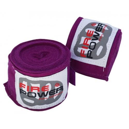 Бинты боксерские эластичные FirePower FPHW1 3м Фиолетовые