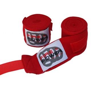 Бинты боксерские эластичные FirePower FPHW2 4,5м Красные