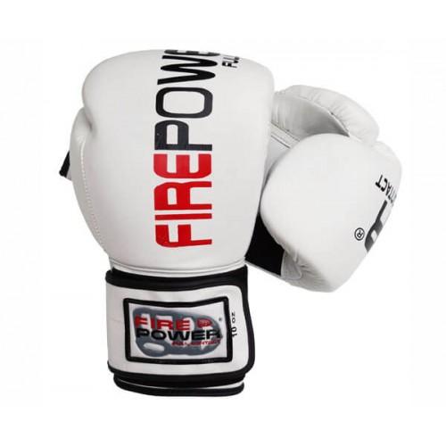 Боксерские перчатки Firepower FPBG2 (10oz) Белые