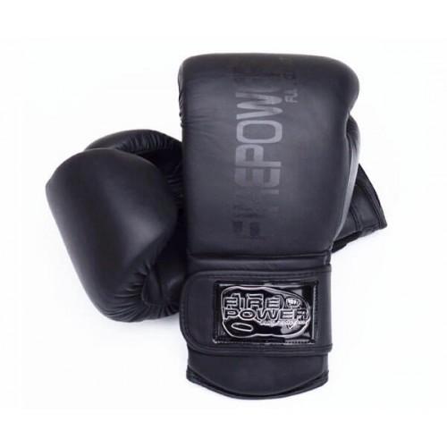 Боксерские перчатки FirePower FPBG4 (10oz) Черные матовые