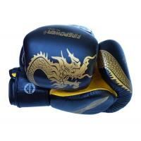 Боксерские перчатки FirePower FPBG8 (10oz) Черные с желтым