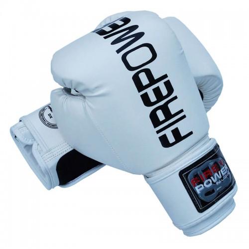 Боксерские перчатки FirePower FPBGА1 (12oz) Белые