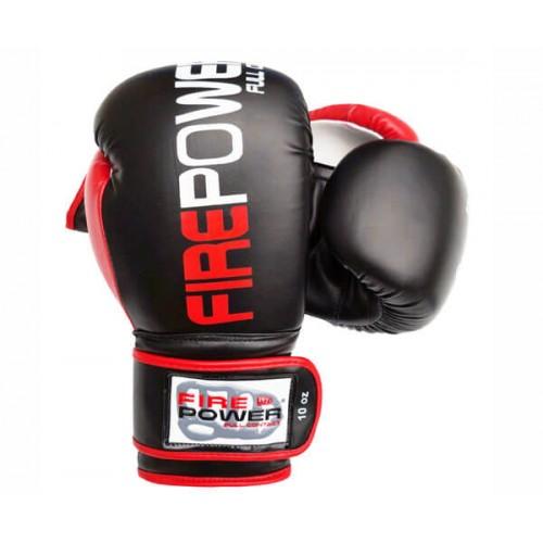 Боксерские перчатки FirePower FPBGA9 (12oz) Черные с красным