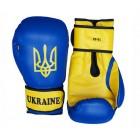 Боксерские перчатки FirePower Ukraine DX (10oz) Синие