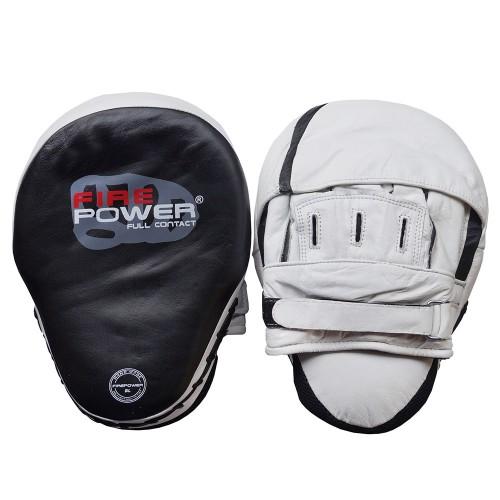 Лапы боксерские FirePower CG3 Белые с черным