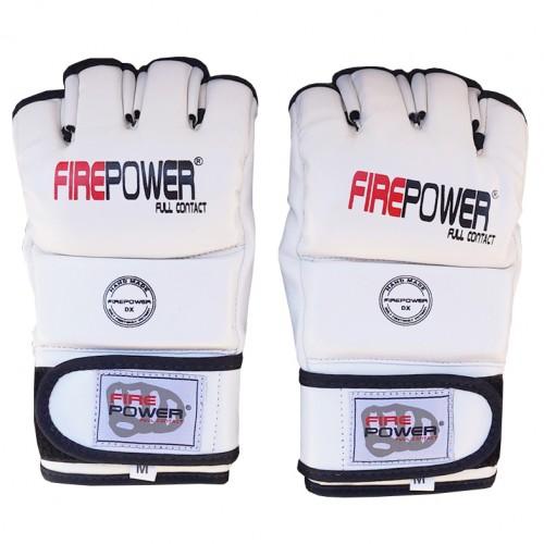 Перчатки MMA FirePower FPMGA1 (XL) Белые