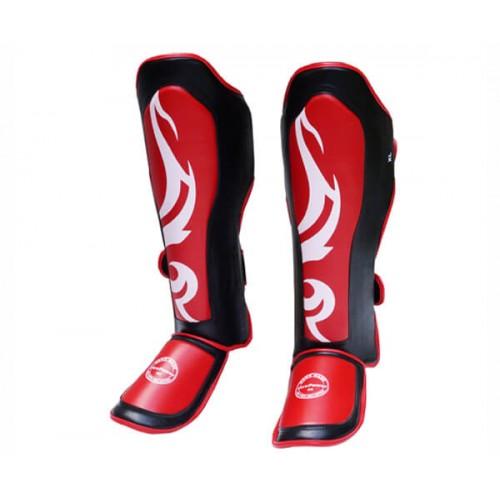 Защита голени (Щитки) FirePower FPSGA6 (S) Черные с красным