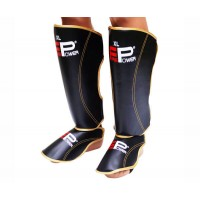 Защита голени и стопы (Щитки) FirePower FPSGA7 (M) Черные с золотым