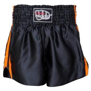 Шорты для тайского бокса FirePower ST-14 (L) Черные с оранжевым