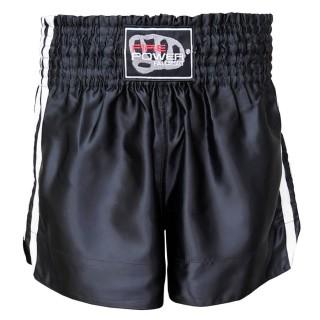 Шорты для тайского бокса FirePower ST-14 (M) Черные с белым