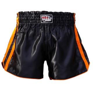 Шорты для тайского бокса FirePower ST-15 (L) Черные с оранжевым