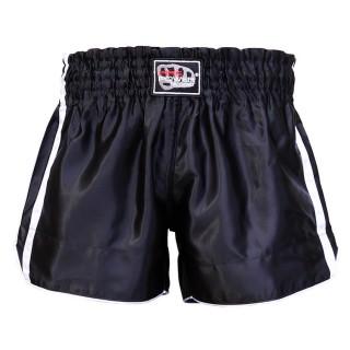 Шорты для тайского бокса FirePower ST-15 (L) Черные с белым