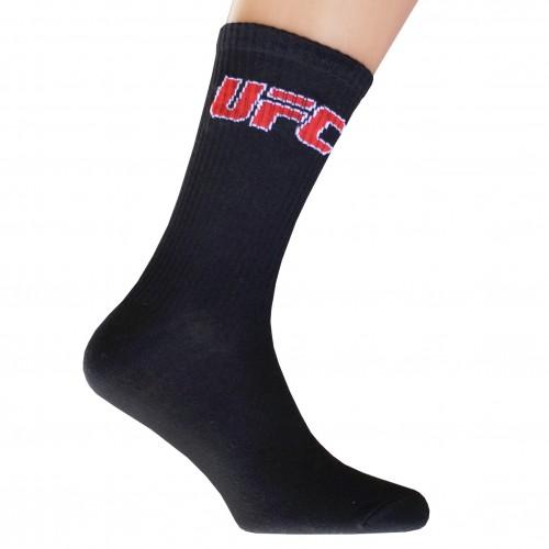 Носки спортивные компрессионные (высокая резинка 20 см) подарочные UFC (L)