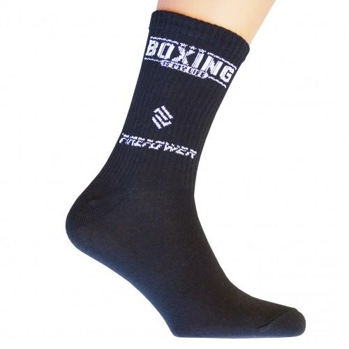 Носки спортивные компрессионные (высокая резинка 20 см) подарочные Firepower Boxing life (L)