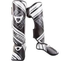 Защита голени (Щитки) Ringhorns Nitro (XL) Черные с белым
