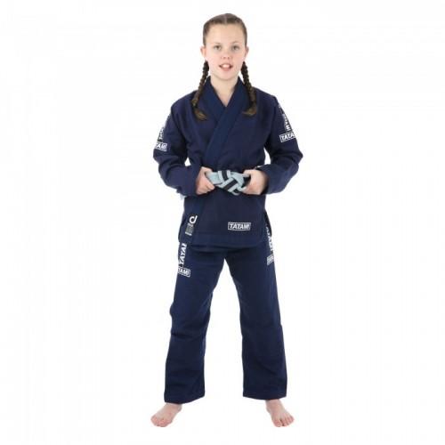 Кимоно детское для Бразильского Джиу-Джитсу Tatami Fightwear Kids Dweller (M1) Темно-синее