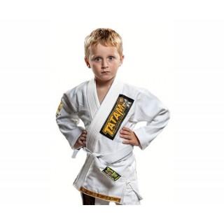 Кимоно детское для Бразильского Джиу-Джитсу Tatami Fightwear Kids Animal Mini (M1) Белое