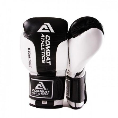 Боксерские перчатки Tatami Combat Athletics Pro Series 2.0 (10oz) Черные с белым