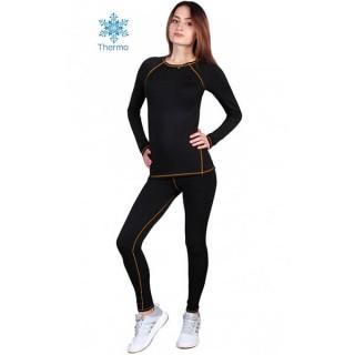 Термобелье  женское FirePower Sport Polarflis-Stretch (M)  Черное с оранжевым