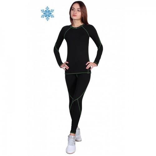 Термобелье  женское FirePower Sport Polarflis-Stretch (L)  Черное с зеленым