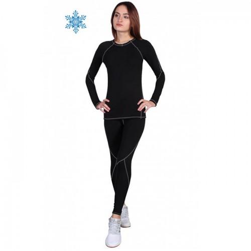 Термобелье  женское FirePower Sport Polarflis-Stretch (L)  Черное с серым
