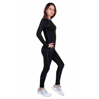 Термобелье  женское FirePower Sport Polarflis-Stretch (L)  Черное с синим