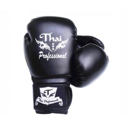 Боксерские перчатки Thai Professional BG3 (8oz) Черные