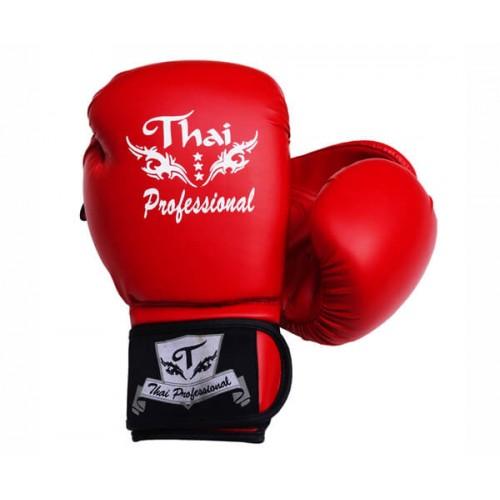 Боксерские перчатки Thai Professional BG3 (12oz) Красные