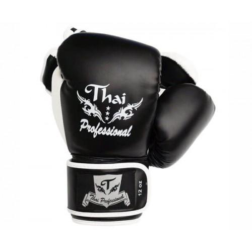 Боксерские перчатки Thai Professional BG8 (10oz) Черные