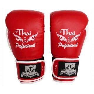 Боксерские перчатки Thai Professional BG8 (12oz) Красные
