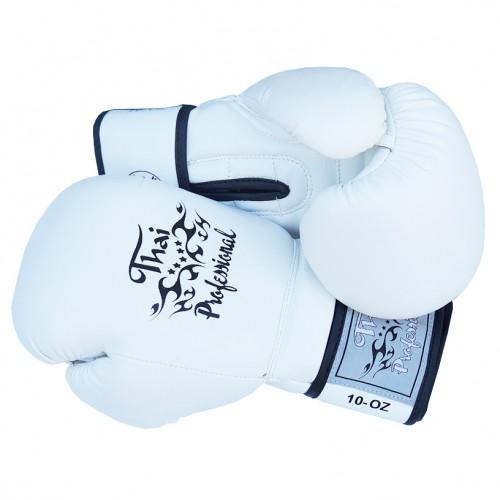 Боксерские перчатки Thai Professional BG3 NEW(10oz) Белые
