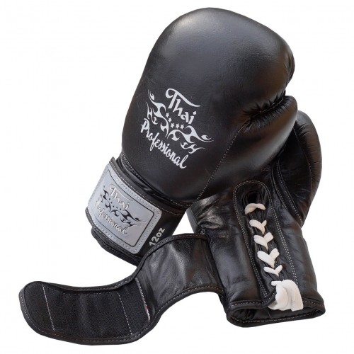 Боксерские перчатки Thai Professional BG5VL (10oz) Черные