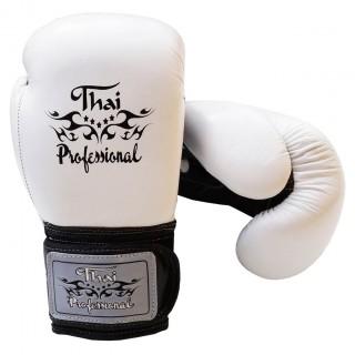 Боксерские перчатки Thai Professional BG5VL (10oz) Белые