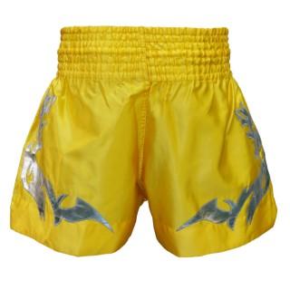 Шорты для тайского бокса Thai Professional S11 (L) Желтые с серебром