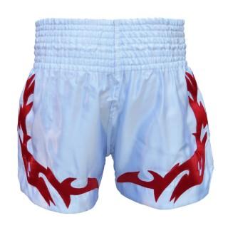 Шорты для тайского бокса Thai Professional S4 (L) Белые с красным
