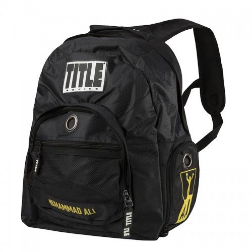 Рюкзак TITLE Ali Super Boxing Backpack Черный с желтым