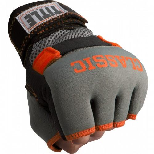 Бинт-перчатки Гелевые TITLE Classic Gel-X Wraps (L) Серые с оранжевым