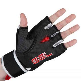 Бинт-перчатки Гелевые TITLE Boxing Rage Fist Wraps (M) Черные с красным