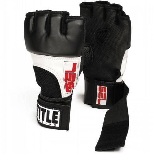 Бинт-перчатки Гелевые TITLE Boxing World Fist Wraps (XL) Черные с красным