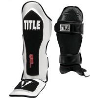 Защита голени и стопы (Щитки) TITLE GEL Elite Pro Shin & Instep Guards (XL) Белая с черным