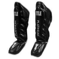 Защита голени и стопы (Щитки) TITLE Platinum Prevail Gel Shin & Instep Guards 2.0 (M) Черная